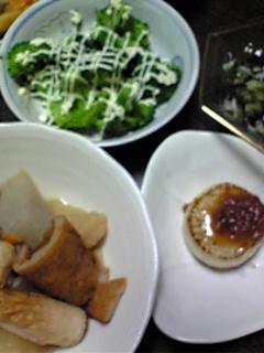 野菜ばかりの夕飯