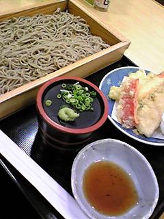 久しぶりの天麩羅蕎麦