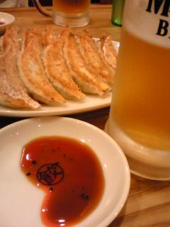 生ビールに餃子は相性ベスト